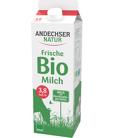 ANDECHSER NATUR Unskimmed milk 3.8% fat at the minimum 1l