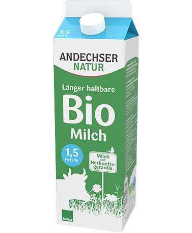 ANDECHSER NATUR Low-fat organic milk 1.5% extended shelf life 1l