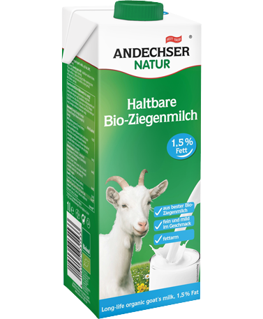 ANDECHSER NATUR Haltbare Bio Ziegenmilch fettarm 1,5% 1L