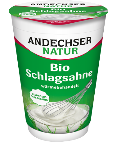 ANDECHSER NATUR Organic whipped cream with 32% fat at the minimum 200g