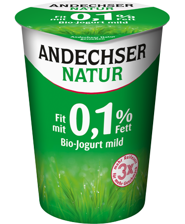 andechser natur bio fettarmer jogurt mild 0 1 fett 500g becher andechser natur. Black Bedroom Furniture Sets. Home Design Ideas