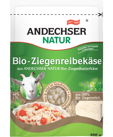 ANDECHSER NATUR Organic goat grating cheese 48% 100g