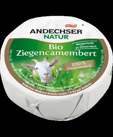 ANDECHSER NATUR Organic goat camembert 50% 100g