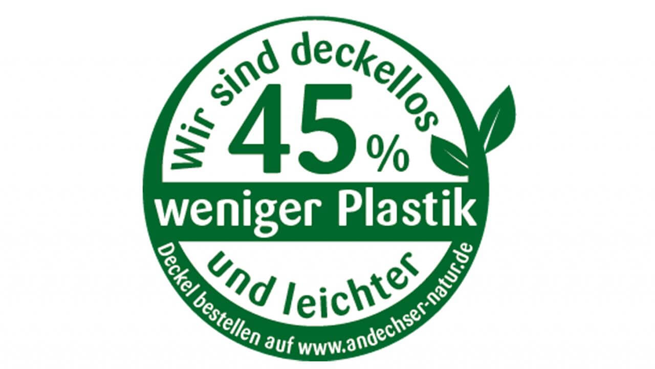 ANDECHSER NATUR without snap-on lid less plastic